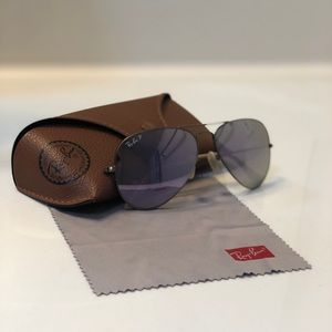 Ray Bans Aviator Flash Lenses in Lilac Mirror